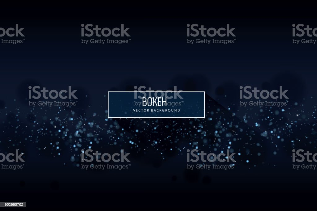 Glowing Particles Background vector art illustration