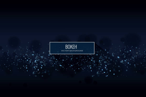 glowing particles background - bokeh stock illustrations
