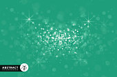 Dust, Snow, Glitter, Crystal Ball, Green,