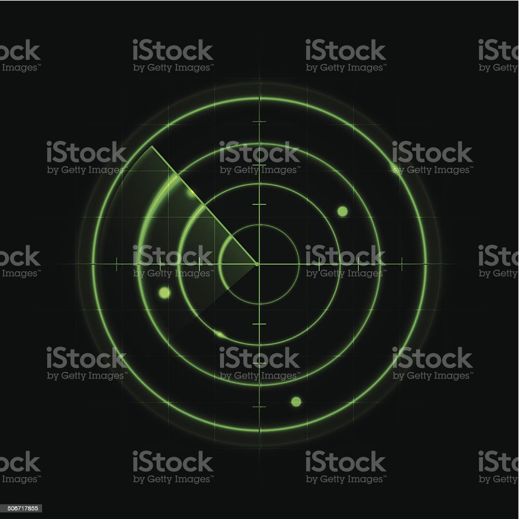 Glowing Radar Design vector art illustration
