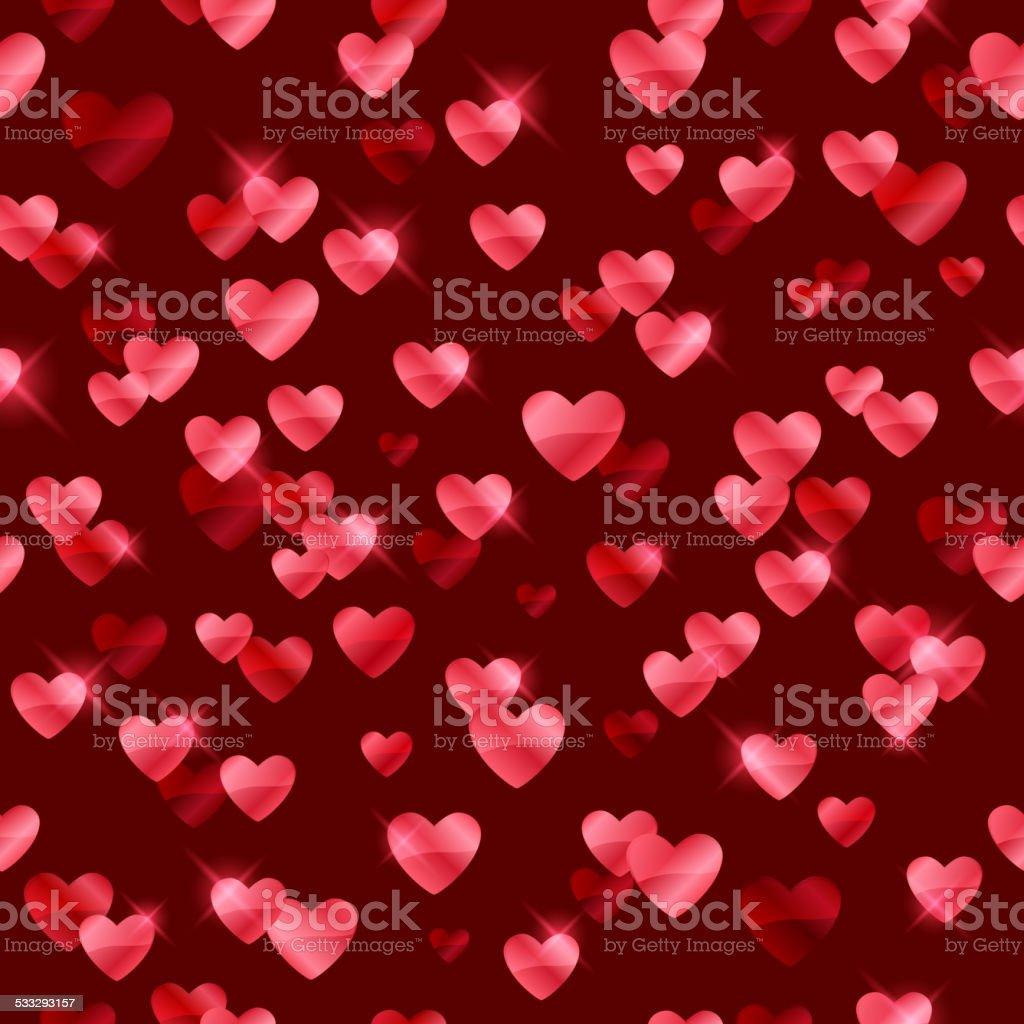 Ilustración De Corazones De Color Rojo Brillante Sequins Fondo Y Más
