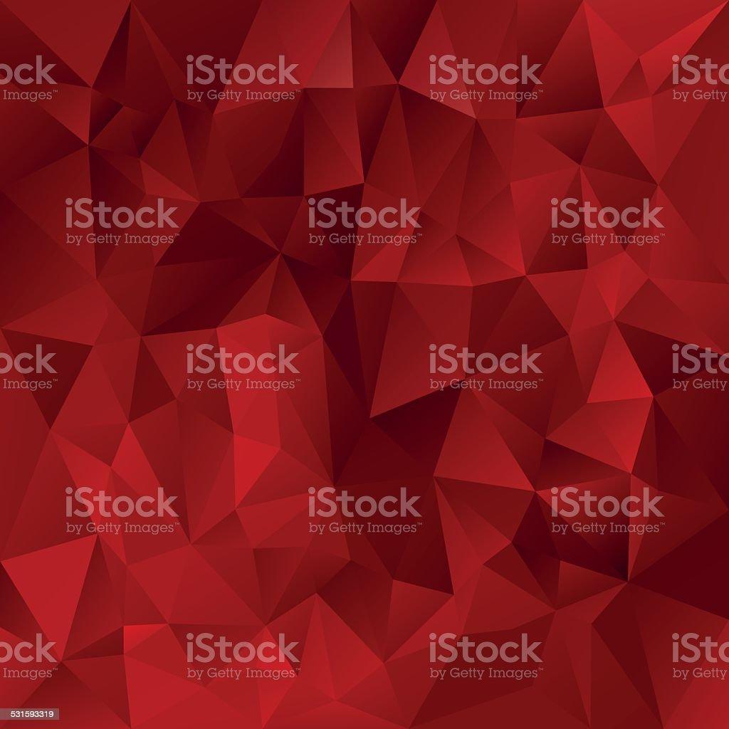 glowing red polygonal triangular pattern background