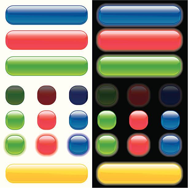 illustrations, cliparts, dessins animés et icônes de reconduites boutons web brillant - pastille