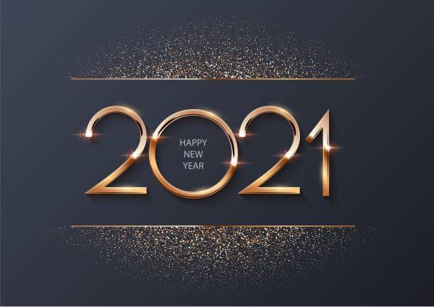 ilustrações, clipart, desenhos animados e ícones de brilhante brilhante novos números do ano de 2021 com glitter no fundo cinza. feriado festivo de inverno feliz decoração de natal. ilustração do ano novo do vetor 2021. - new year