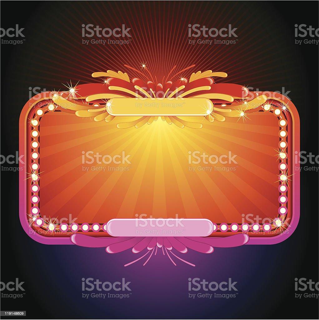 Glowing sign vector art illustration