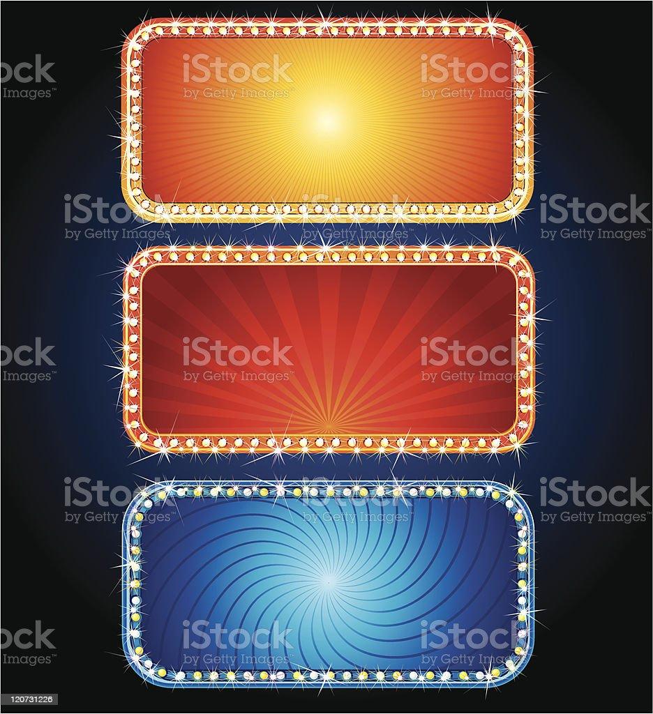 Glowing Signs vector art illustration