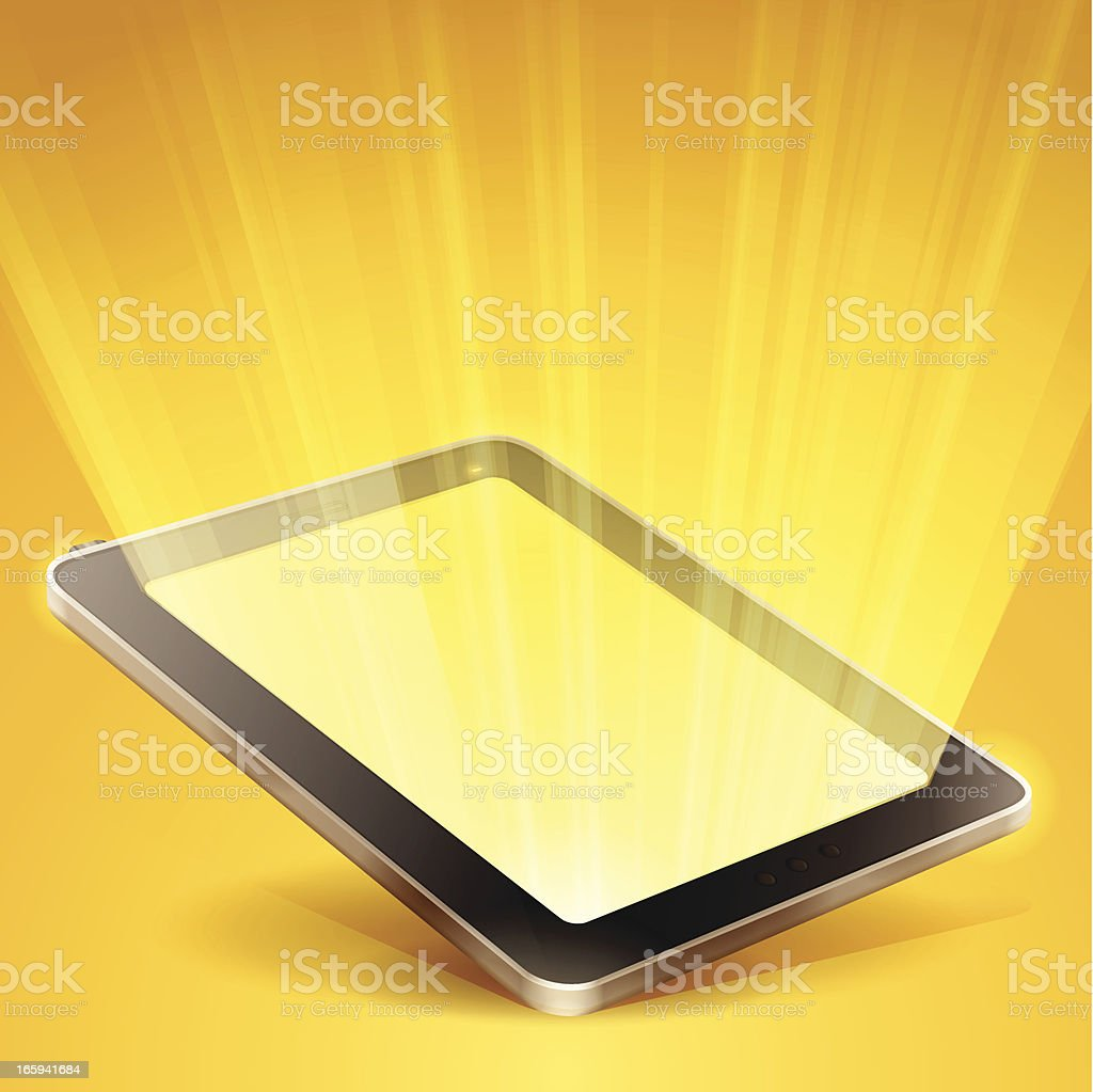 Glowing Tablet royalty-free stock vector art