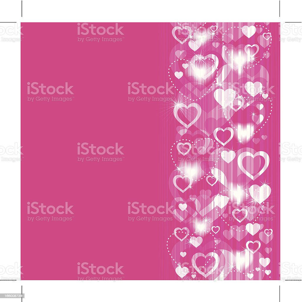 Glowing Valentine's Background royalty-free stock vector art