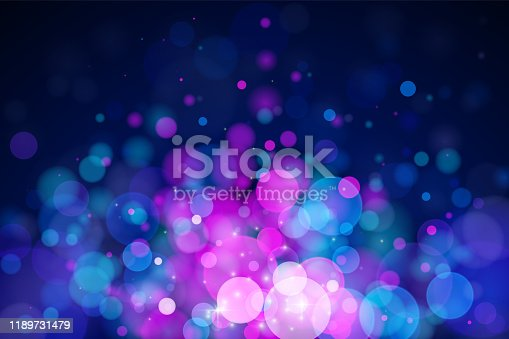 istock Glowing vector blurred background. 1189731479