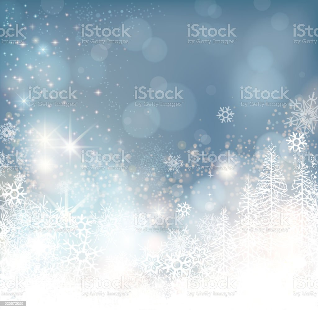 glowing winter background vector art illustration