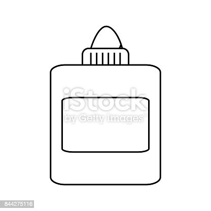 glue bottle coloring pages | Glue Bottle Cartoon Stock Vector Art & More Images of 2nd ...