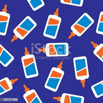 istock Glue Bottles Seamless Pattern 1282207956