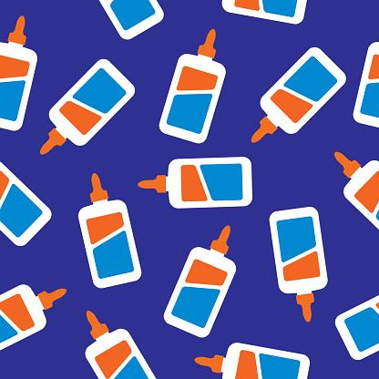Glue Bottles Seamless Pattern