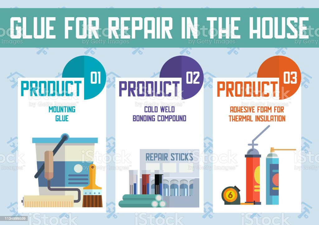 House Repair and Construction Materials Flat Vector Advertising...