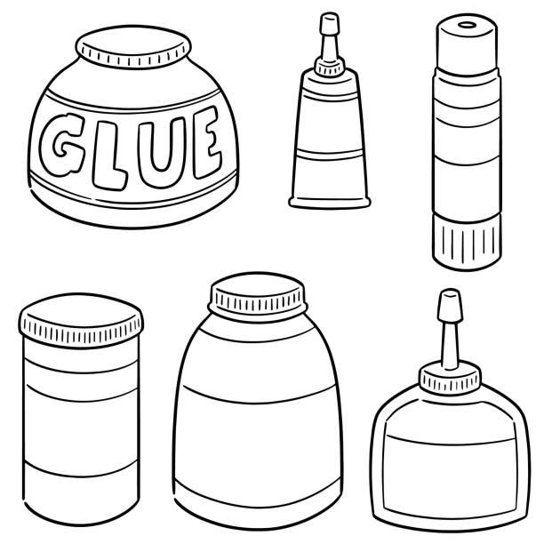 glue – artystyczna grafika wektorowa
