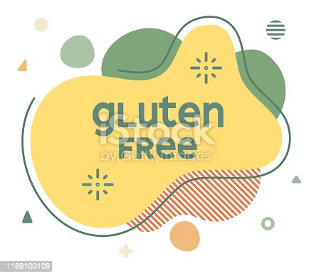Gluten Free Abstract Web Banner Illustration