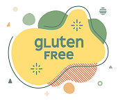 Gluten Free Abstract Web Banner Illustration