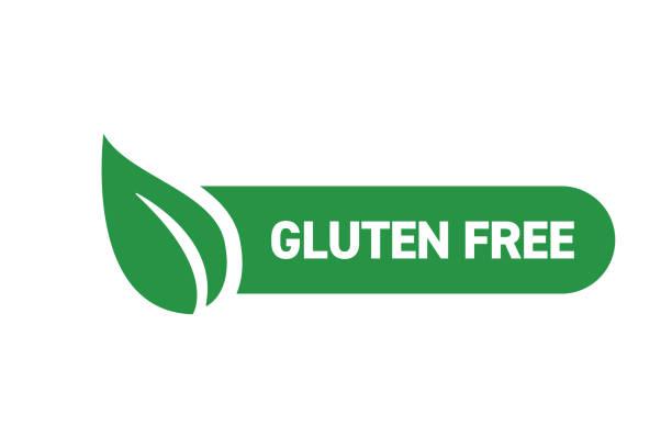 illustrazioni stock, clip art, cartoni animati e icone di tendenza di gluten free badge design - organic food