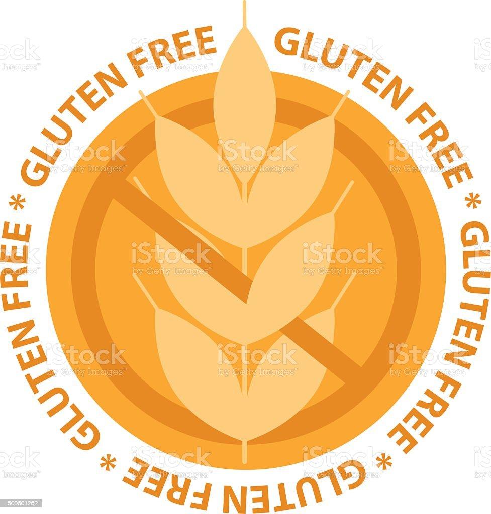 Logo étiquette De Nourriture Gratuite Sans Gluten Vecteurs