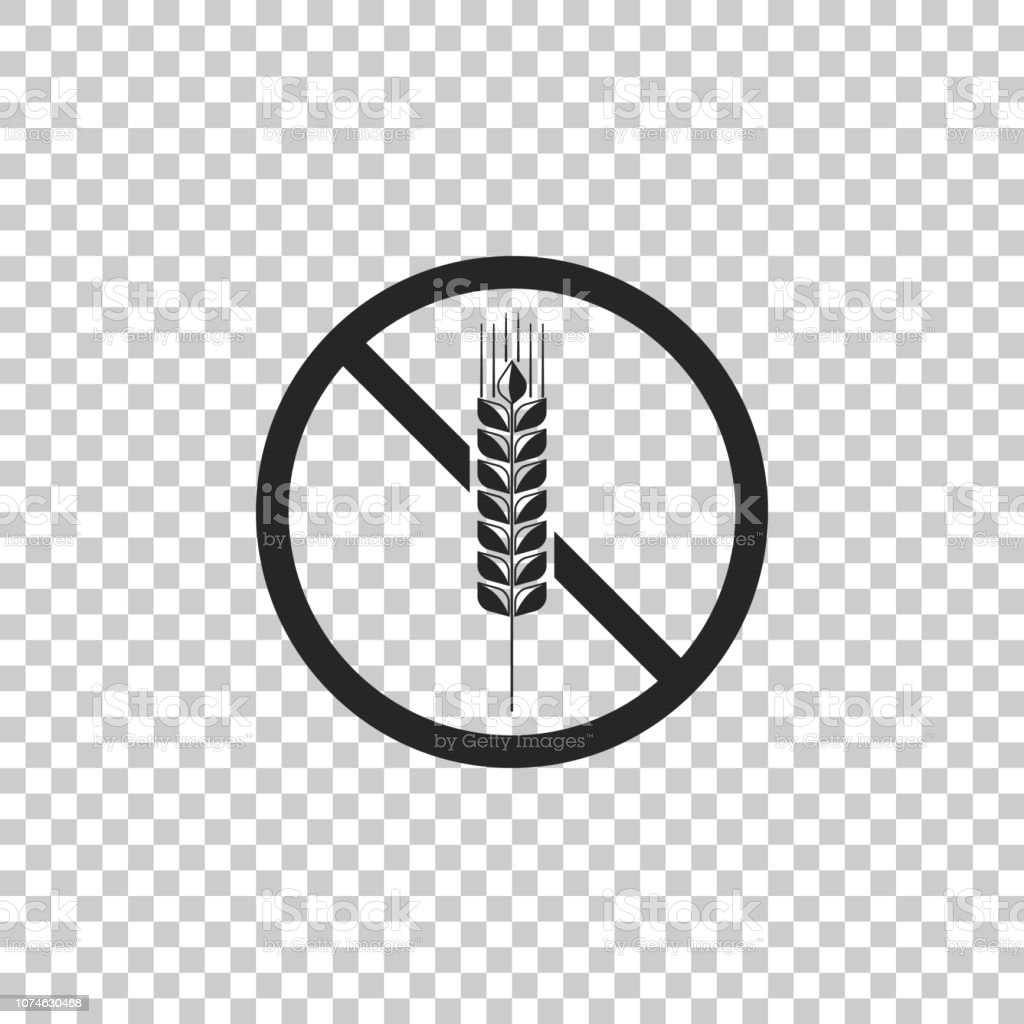 Gluten Free Grain Icon Isolated On Transparent Background No