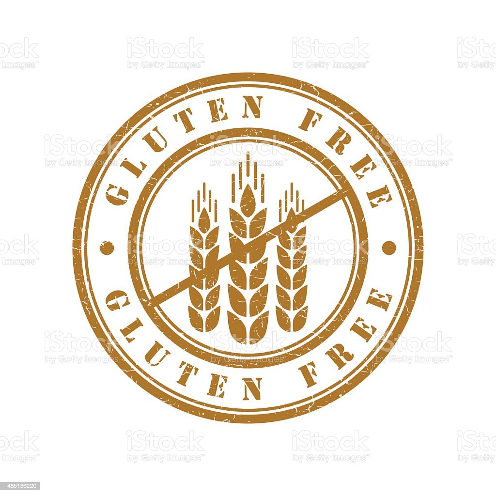 Gluten free grunge retro isolated stamp vector art illustration