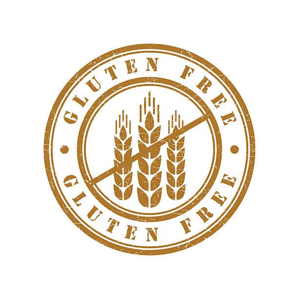 ilustraciones, imágenes clip art, dibujos animados e iconos de stock de sin gluten grunge retro aislado de la firma - sin gluten