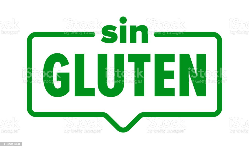 Gluten Free Icon Spanish Sin Gluten Food Product Package Label