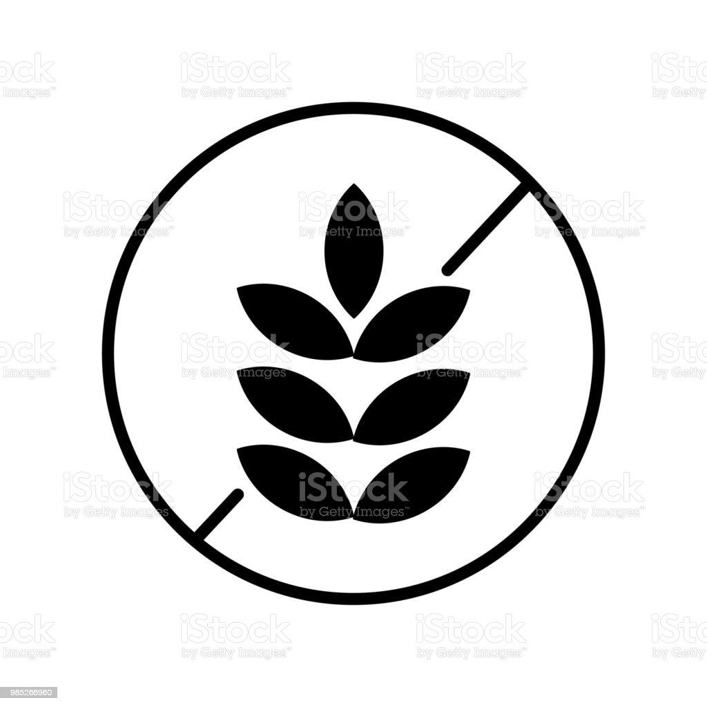 Gluten Free Icon Vector Icon Simple Element Illustration Gluten Free