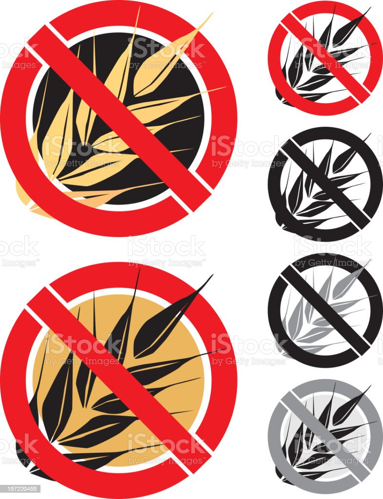 Gluten Free Icon vector art illustration