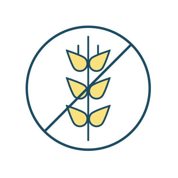 glutenfreie-symbol - gluten stock-grafiken, -clipart, -cartoons und -symbole