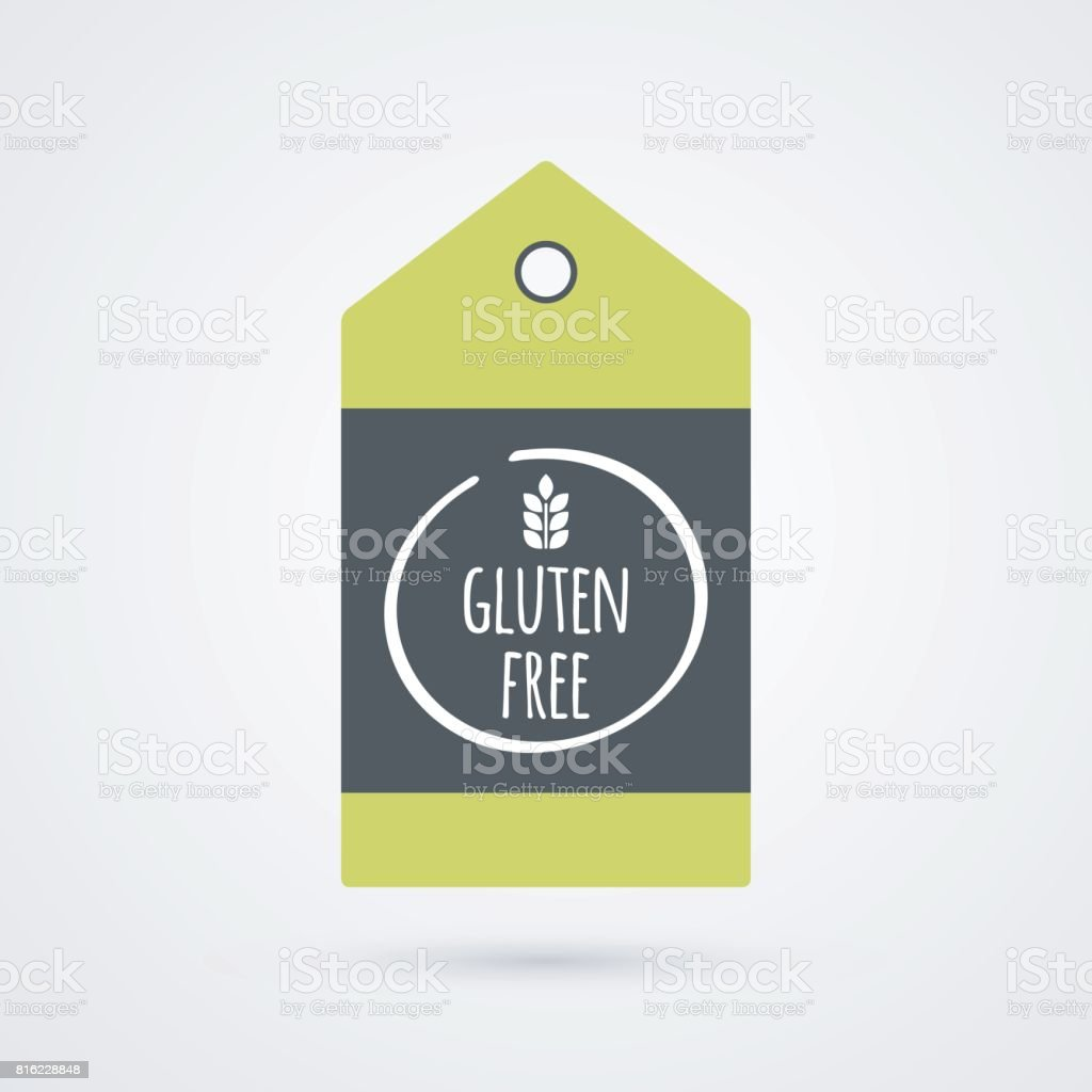 Gluten free label food icon vector green gray and white shopping tag food icon vector green gray and white shopping tag sign isolated biocorpaavc Gallery