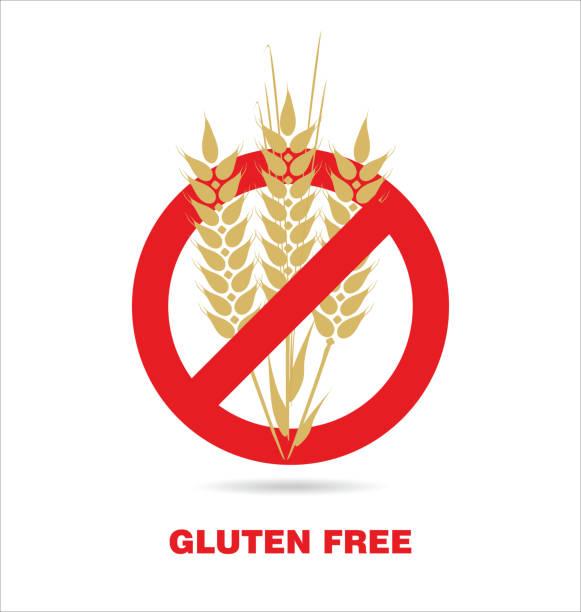 gluten freie bezeichnung - gluten stock-grafiken, -clipart, -cartoons und -symbole