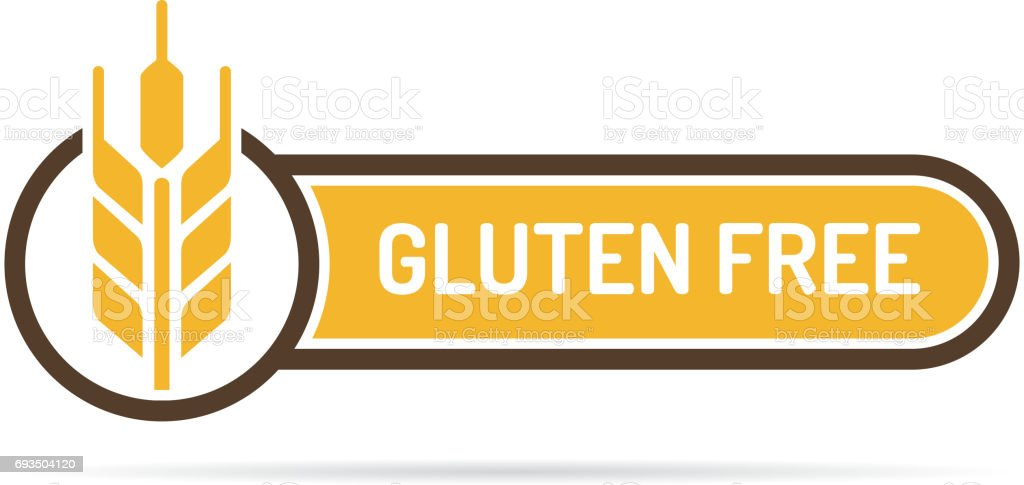 Gluten Free Label vector art illustration