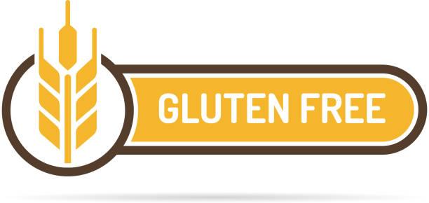 illustrations, cliparts, dessins animés et icônes de sans gluten libre label - sans gluten