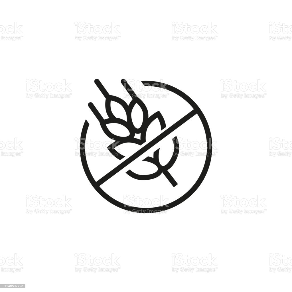 Gluten Free Line Icon Stock Vector Art & More Images of