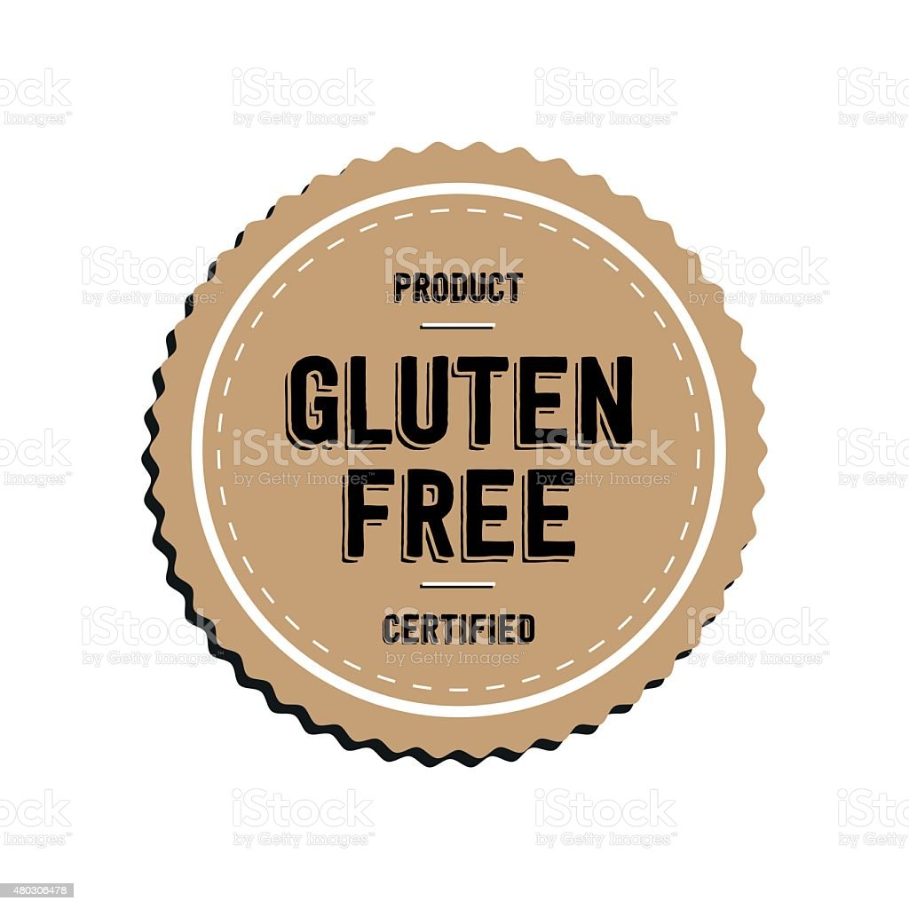 gluten free logo badge stock vector art amp more images of