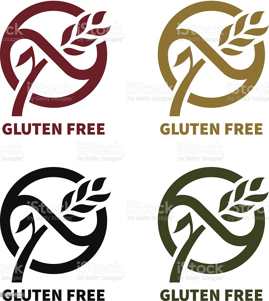gluten free logo stock vector art amp more images of beige