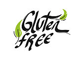 Gluten Free Organic Product Icons Vector Illustration Symbol Design Element