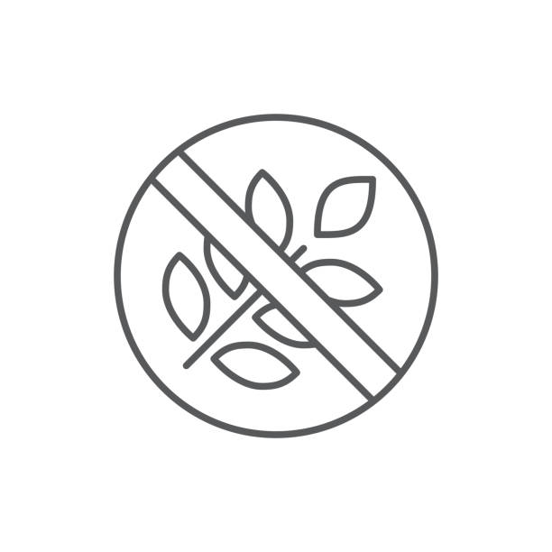 gluten freie prouduct diät editierbare symbol - pixel perfekte symbol mit durchgestrichene ähre isoliert auf weißem hintergrund. - gluten stock-grafiken, -clipart, -cartoons und -symbole