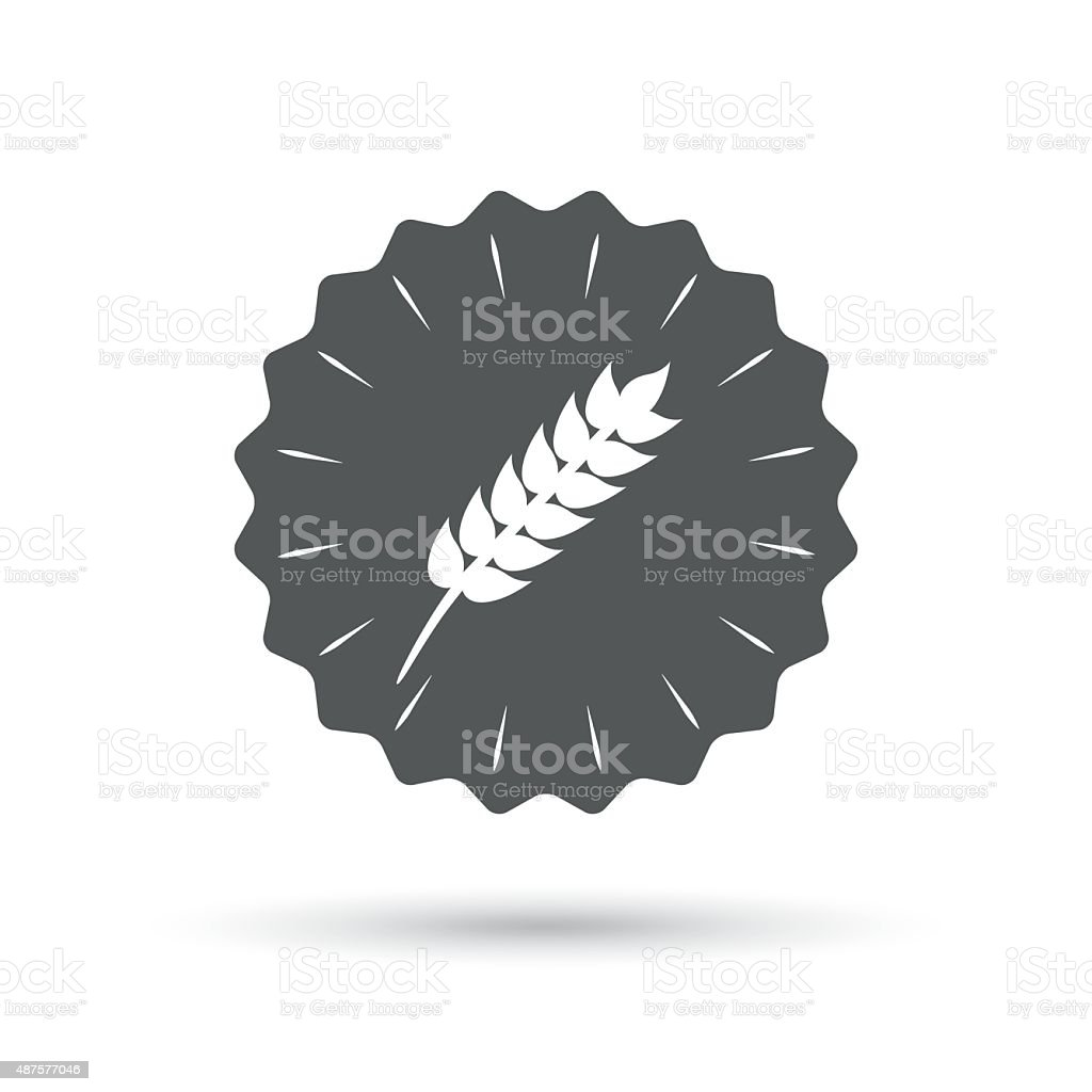 Gluten Free Sign Icon No Gluten Symbol Stock Vector Art