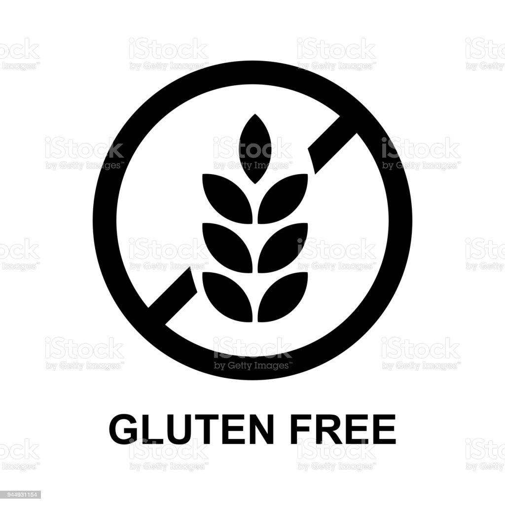 gluten free sign isolated vector vector art illustration