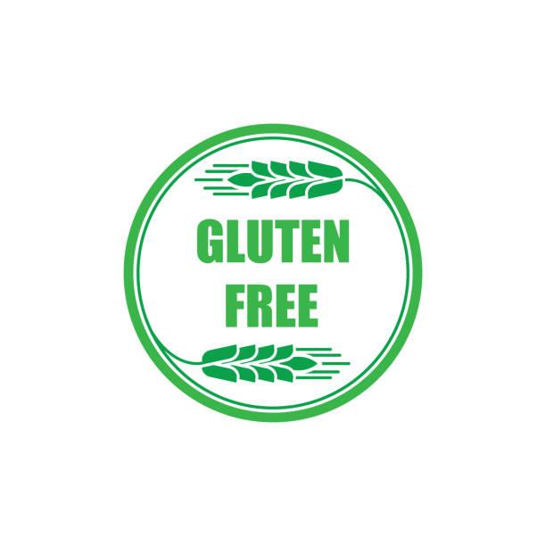 ilustraciones, imágenes clip art, dibujos animados e iconos de stock de icono de vector libre de gluten. - sin gluten