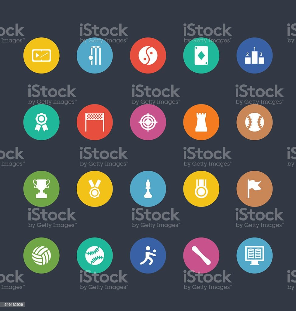 Glyphs Colored Vector Icons 48 vector art illustration