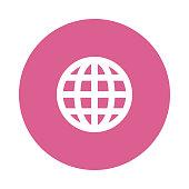 GLOBE Glyphs flat circle icons