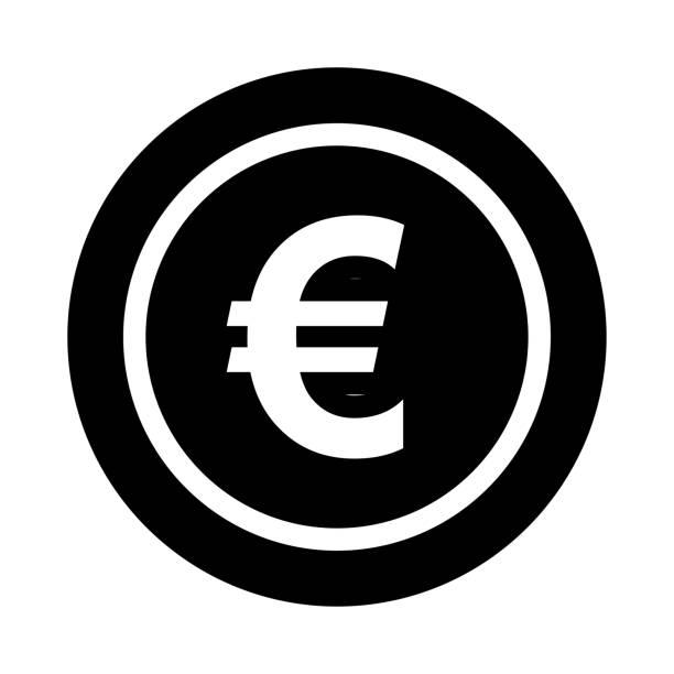 EURO Glyphs Vector Icon EURO Glyphs Vector Icon euro symbol stock illustrations
