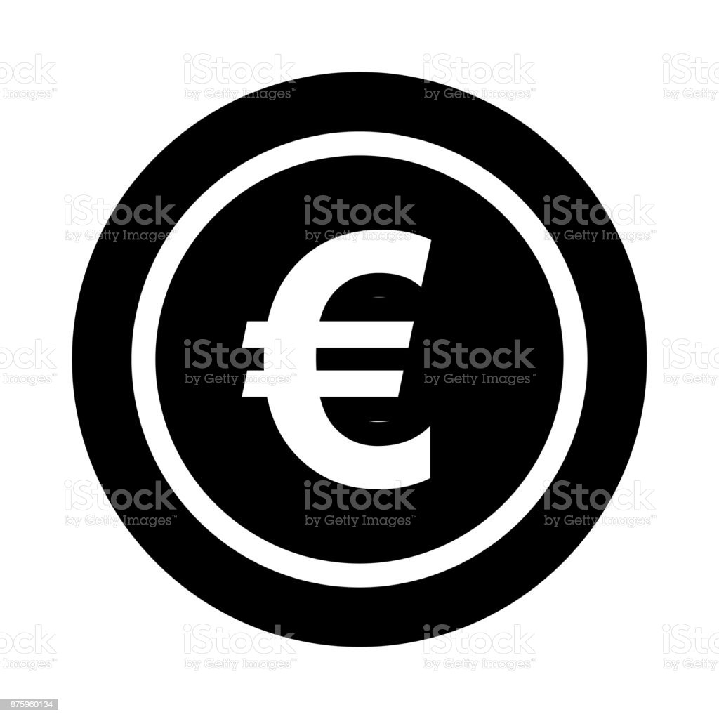 EURO glyphes Vector Icon - Illustration vectorielle