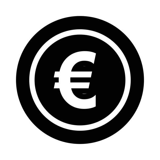 EURO Glyphs Vector Icon EURO Glyphs Vector Icon euro stock illustrations