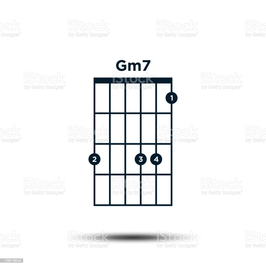Gm15 Basis Gitarre Chord Diagramm Icon Vektor Vorlage Stock Vektor ...