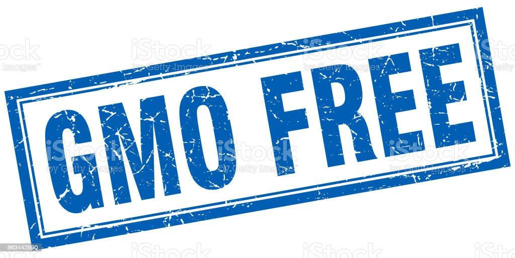 gmo free square stamp - Grafika wektorowa royalty-free (Badanie genetyczne)