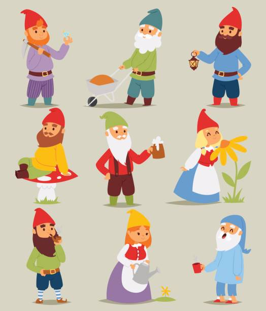 Best Garden Gnome Illustrations, Royalty-Free Vector
